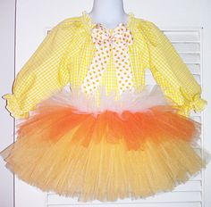 Candy Corn Tutu & Top by: Paisley Patches