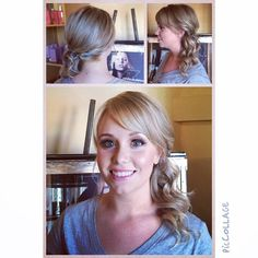 """""""Our radiant bride Jessica!  Your beauty shines inside and out.  Hair by Tawsha and Makeup by Kimberly #jigsawbrides2014 #weddings2014 #weddinghair"""" Photo taken by @jigsawforhair on Instagram, pinned via the InstaPin iOS App! http://www.instapinapp.com (09/06/2014)"""