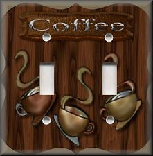Light Switch Plate Cover Cafe Coffee Kitchen Decor Home Shelf