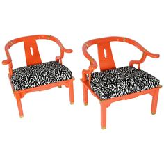 Pair of Asian Ming Chairs James Mont Style by Century Furniture   From a unique collection of antique and modern lounge chairs at https://www.1stdibs.com/furniture/seating/lounge-chairs/