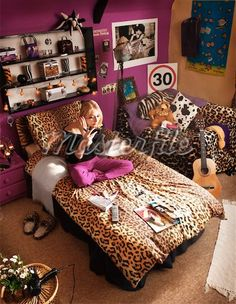 leopard print bed cover