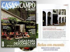 F.V · Ya disponible el nuevo número de Casas de Campo @El El Mueble, que incluye la noticia de nuestra apertura en #Marbella. #Design #Wood #Ceramic #Tiles #Stone #Granada