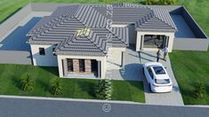 3 Bedroom House Plan MLB 008.1S - My Building Plans South Africa Tuscan House Plans, Metal House Plans, My House Plans, Split Level House Plans, Square House Plans, My Building, Building Plans, Architect Fees, House Plans South Africa