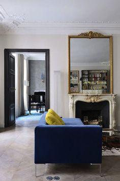 AphroChic: Blue Sofas Are In