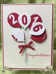 Balloon Bouquet Graduation Card