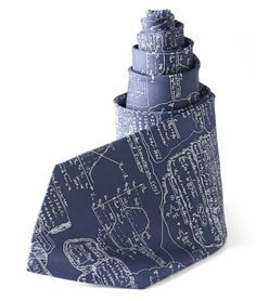 MATH FORMULAS TIE | Equation covered blue and white necktie for men | UncommonGoods