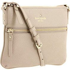 Kate Spade New York Cobble Hill Tenley from Zappos Couture. Saved to My Wishlist. #katespade #purse #handbag #love #buy #crossbodybag #simple #hipster.