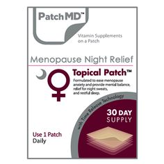 Share and save 10% off your first order! Menopause Night Relief Topical Patch (30-Day Supply) by PatchMD #BariatricPalStore