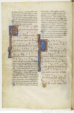 Chansons notées et jeux-partis ; [Mere au Sauveour] ; « Maistre WILLAUMES LI VINIERS » ; « LI PRINCE DE LE MOUREE » ; « LI CUENS D'ANGOU » ; « LI QUENS DE BAR » ; « LI DUX DE BRABANT » Date d'édition :  1201-1300  Français 844  Folio 76v