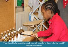 The Montessori method is based on the research of Italian physician and educator Maria Montessori (1870-1952), who developed the educational philosophy after scientifically observing children in learning environments. Dr. Montessori found that children have the effortless ability to absorb knowledge from their surroundings and develop confidence by teaching themselves.