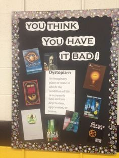 Dystopia bulletin board high school library ideas by angelina