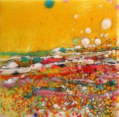 Color the Way 2 Portfolio. Original Encaustic Paintings by Gayle Curry