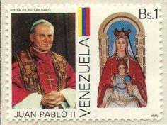 papa juan pablo II estampilla