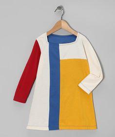 Look what I found on #zulily! Yellow & Blue Mondrian Dress - Toddler & Girls #zulilyfinds