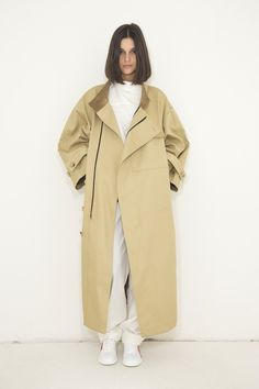Biodegradable Rainproof Coat by Moise, Ankle Length, Biodegradable Products, Duster Coat, Zipper, Cotton, Jackets, How To Wear, Inspiration
