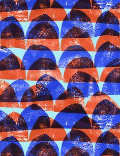 Press print semi-circle pattern - Sarah Bagshaw