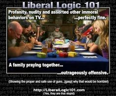 That is just wrong. A family praying together does not harm you but does good.