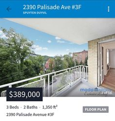 New listing! Best-priced 3-bedroom 2-bath with terrace in Spuyten Duyvil!!! Asking $389000  More details at www.modarealty.com  #newlisting #exclusive #3bedroom2bath #spuytenduyvil #riverdaleny #riverdalebronxny #riverdalebronx #nycrealestate #nyrealestate #realestateforsale #realestatelisting #realestateny #realestatenyc #nycre #modarealty #modarealtywestchester
