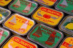 Boite de Sardines 1950 - Vintage Sardine Tin