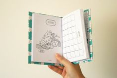 2014/2015 Small Hardcover Weekly Planner - Custom Cover Daily Agenda A6 - Handmade Bookbinding Planner - Small Planner - Back to School