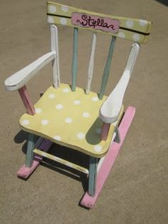 A made-over rocking chair. Cute