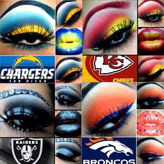 We're not the suits that talk football, we're the dudes that KNOW football! NFL Podcasts, Video shows, breaking news, opinions & analysis. Day Makeup, Makeup Art, Beauty Makeup, Makeup Ideas, Makeup Eyeshadow, Football Nail Art, Football Stuff, Nfl Football, Employee Appreciation Gifts