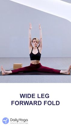 Jan 2020 - Can't make the wide leg forward fold? Use the block help you. Benefits: Stretches the hamstrings and inner thighs Strengthens the spine Weight Loss Motivation, Fitness Motivation, Bend Yoga, Free Yoga Classes, Forward Fold, Yoga Block, Daily Yoga, Yoga Tips, Workout Challenge