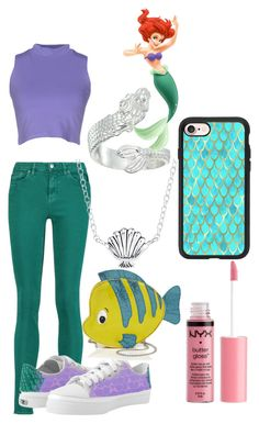"""""""Modern Ariel"""" by moonstar843 on Polyvore featuring Acne Studios, Silvian Heach, Danielle Nicole, Disney, Alex and Ani, Charlotte Russe, Casetify and modern"""