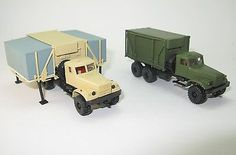 KrAZ-255B mit Faltkoffer FK1 Medizinische Operationstrakt NVA UdSSR - 1:87 HO