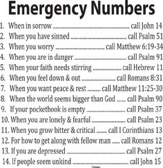 Who to Call during tough times