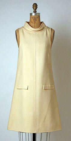André Courrèges dress 1965 via Metmuseum Find the best Web Hosting Service - - Host your clients website by choosing the Reseller Hosting - 1960s Dresses, 1960s Outfits, Vintage Dresses, Vintage Outfits, Sixties Fashion, Mod Fashion, Vintage Fashion, Womens Fashion, Mode Vintage