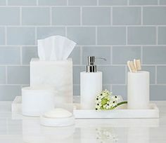 Alabaster Bathroom Accessories