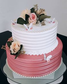 Sweet Cakes, Cute Cakes, Yummy Cakes, Cake Decorating Frosting, Cake Decorating Designs, Beautiful Birthday Cakes, Birthday Cakes For Women, Quinceanera Cakes, Cake Images