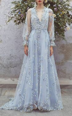 Get inspired and discover Luisa Beccaria trunkshow! Shop the latest Luisa Beccaria collection at Moda Operandi. Luisa Beccaria, Tulle Prom Dress, Dress Up, Dress Long, Gown Dress, Vintage Long Dress, Party Dress, Vintage Dresses, Lace Dress