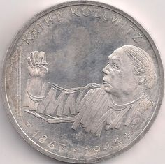 Motivseite: Münze-Europa-Mitteleuropa-Deutschland-Deutsche-Mark-10.00-1992-Käthe Kollwitz