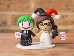 Joker and Harley Quinn wedding cake topper by Genefy Playground https://www.facebook.com/genefyplayground