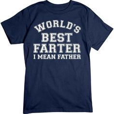 [Basic Tee] - World's Best Father   Our crew neck tee is made with 4.5 oz. 100% super soft combed ring-spun cotton and is preshrunk. #fathersday