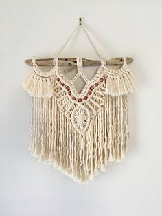 Small/Medium Macrame Wall Hanging // Macrame Decor // Tapestry // Free Shipping within Aus by WhimsicalWeavingsAU on Etsy https://www.etsy.com/au/listing/570766729/smallmedium-macrame-wall-hanging-macrame