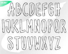 Doodle letters svg Doodle svg Hand drawn svg Alphabet | Etsy