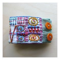 Rectangle Colorful Hand Embroidered by MadrigalEmbroidery on Etsy