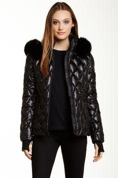 Ali Fur Trim Quilted Puffer Jacket by Diane von Furstenberg on @nordstrom_rack