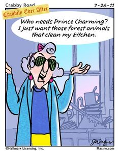 maxine cartoons | Maxine Cartoon on Cleaning the Kitchen - Mrs Carrigan's Shoppe'