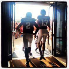 "# Aggie Sports Love- my two Favorite players on Their last home game together at Texas A Johnny ""Football"" Manziel and Mike Evans Aggie Football, Watch Football, Southern Women, Southern Belle, Mike Evans, Johnny Manziel, Ole Miss, Mississippi State, Texas A&m"