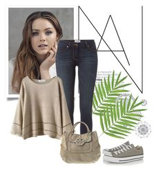 """""""Converse Sneakers"""" by soleuza ❤ liked on Polyvore featuring Paige Denim, Chicnova Fashion, Tory Burch, Converse and WallPops"""