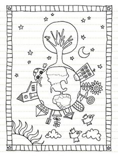 Earth Day Coloring Pages Earth Day Coloring Pages, Colouring Pages, Coloring Sheets, Coloring Books, Painting For Kids, Drawing For Kids, Art For Kids, Camping Coloring Pages, Earth Day Crafts