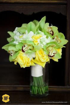 Google Image Result for http://thefrenchbouquettulsa.com/blog/wp-content/uploads/2010/11/Bright-Summer-Bouquet-of-Green-Cymbidium-Orchids-Small-White-Dendrobium-Orchids-and-Yellow-Roses-The-French-Bouquet-620x930.jpg