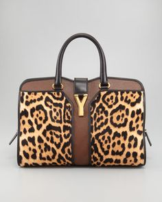 Leopard-Print ChYc E/W Bag  by Yves Saint Laurent at Neiman Marcus.