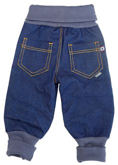 Sewing baggy jeans for little robbers - # for .- Sewing baggy jeans for little robbers – # for a little # - Toddler Outfits, Baby Outfits, Kids Outfits, Diy Clothes Kimono, Doll Clothes, Sewing For Kids, Baby Sewing, Sewing Box, Baby Boy Fashion