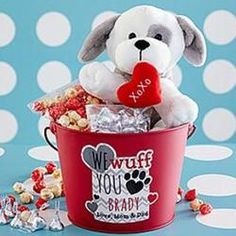 Personalized Puppy Love Bucket