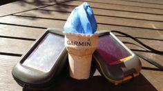 Schmilzt garantiert nicht in der Hand. Das Garmin Eis Genial! Die Bastelstunde ist vorbei. #Garmin #Icecream #Papercraft